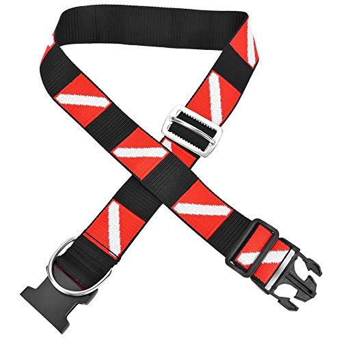 Semiter Cinturón De Buceo, Diseño De Patrón De Bandera De Buceo Cinturón De Buceo con Escafandra, 44.9 Pulgadas Fantásticos Accesorios Cinturón De Buceo con Hebilla(HY21)