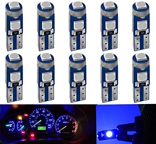 DEFVNSY 10PCS Azul Led T5 3030 3SMD 12V 74 73 2723 2721 286 W3W W1.2W para Luces Interiores del Coche Led Tablero de Instrumentos Reemplazo de la lámpara del Instrumento automático