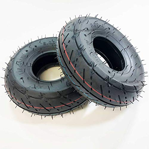 Scooter X 2 Set 3.00x4 Fits Gas and Electric Scooters Street Tread [3114]