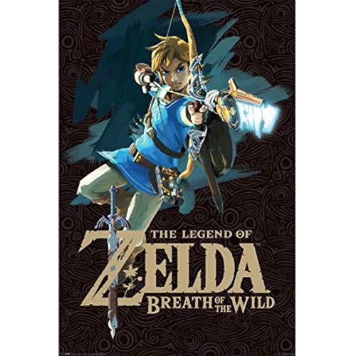 Grupo Erik Editores Poster Zelda Breath Of The Wild Game Cover