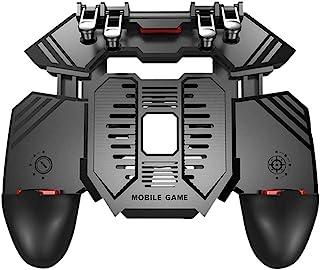 Iycorish AK77 4 Triggers [6 Finger Operation] Mobile Game Controller Shooter Trigger Cooling Fan Power Bank Game Joystick ...