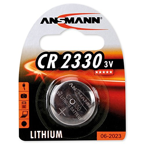 2er Set: ANSMANN 1516-0009 Knofpzelle Batterie Lithium CR 2330-3V