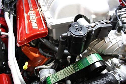 JLT Performance Oil Separator for the 2015-2020 Hellcat Charger Challenger Demon Trackhawk 3060P-B Passenger Side Black