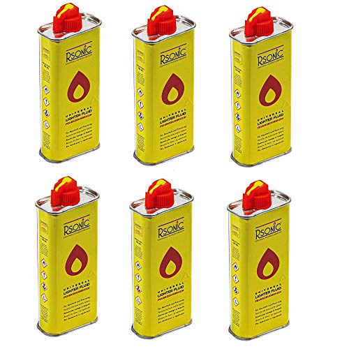 Campingman 6X 125ml aanstekerbenzine navulflessen lichte benzine om bij te vullen stormaansteker aansteker