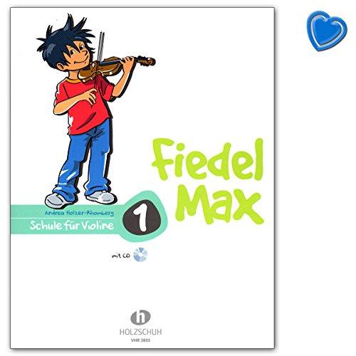 Fiedel-Max für Violine Schule Band 1 - Violinschule mit bunter herzförmiger Notenklammer - Alfons Holzschuh VHR3801 9783920470429