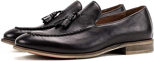 EGS-schuhe Herren Lederschuhe niedrig zu helfen, atmungsaktive Rutschfeste Leder Herrenschuhe Handmade Sommer neues Leder,Grille Schuhe (Farbe   schwarz, Größe   40-EU)