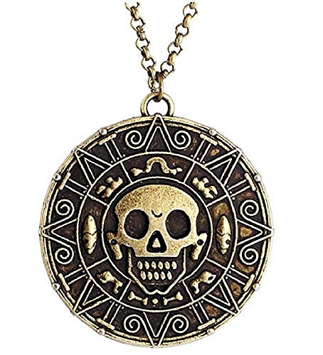 KIRALOVE Collar - Piratas del Caribe - Color Bronce - película - Serie de TV - Cosplay - bisutería - Hombre - niño Pirates of The Caribbean