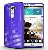 LG G3 (2014) Funda, TUDIA Ultra Delgado Clef TPU Caso de Parachoques de protección Funda Carcasas para LG G3 (2014) (Púrpura)