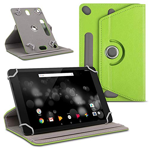 UC-Express Tablet Hülle kompatibel für Amazon Fire HD 10 / Plus Tasche Schutzhülle Cover 360° Drehbar Hülle, Farben:Grün