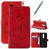 Robinsoni Coque pour Nokia 7.1 Housse de téléphone en Cuir,Jolie Papillon Femme Portefeuille Étui...