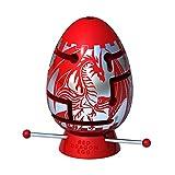 Smart Egg Red Dragon: 3D Puzle Laberinto, un Rompecabezas difícil (2º Nivel de dificultad de 3), para los Fanáticos de los Rompecabezas (para 8+) - Resolver el Laberinto Dentro del Huevo