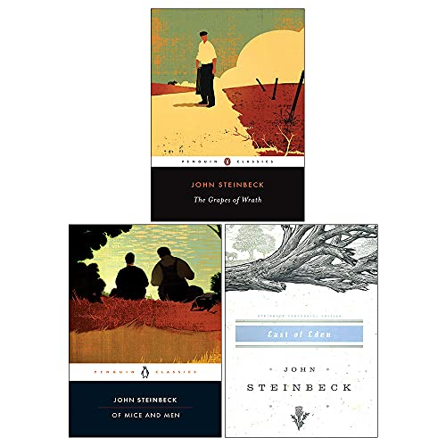 Mr John Steinbeck Collection 3 Books Set (The Grapes of Wrath, East of Eden, Of Mice and Men)