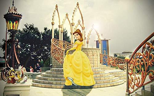 Póster animado de la Bella y la Bestia de Disney Cenicienta, 30,5 x 45,7 cm, multicolor