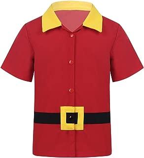 Freebily Kids Boys Beauty and Beast Gasto Tshirt Costume Halloween Cosplay Birthday Party Blouse Top Apparel