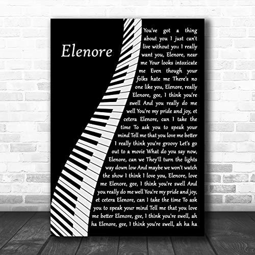 Elenore Piano Song Lyric Quote Muziek Poster Print Medium A4
