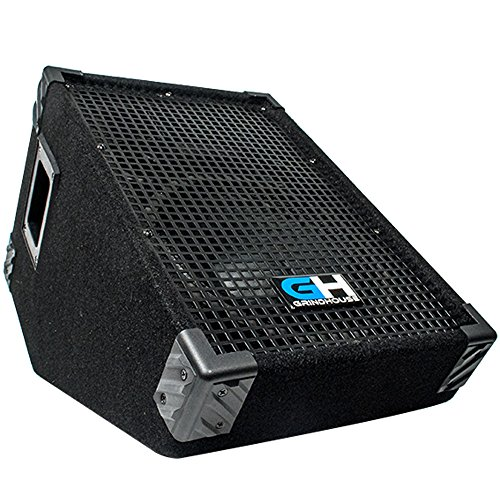 Grindhouse Speakers - GH10M - 10 Inch Passive Wedge Floor / Stage Monitor 300 Watts RMS - PA/DJ Stage, Studio, Live Sound 10 Inch Monitor