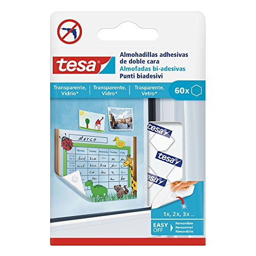 tesa 77731–00001–00Klebepads geeignete Oberflächen Transparent und Glas