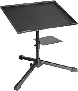 Adam Hall Stands SLT004 DJ - Soporte para Portátil con estante para Interface Negro