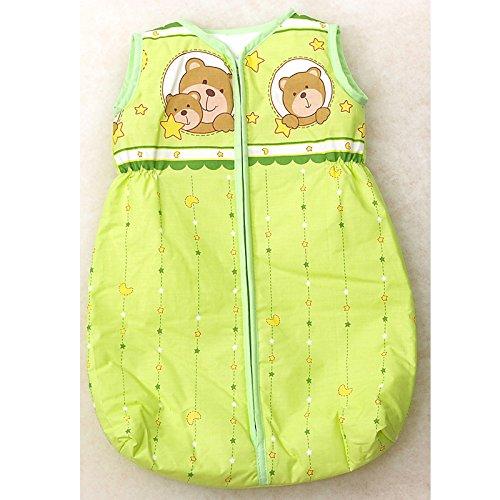 Babyschlafsack, 80-86cm, grün 2 Bären