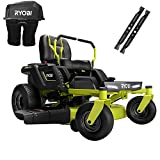 RYOBI RY48ZTR100-1A 42 in. 100 Ah Battery Electric Riding Zero Turn Mower and Bagging Kit