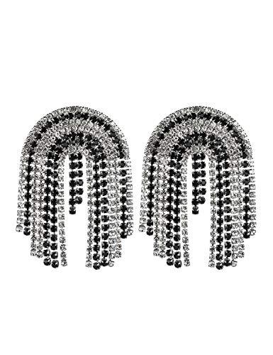 WSQJPEH888 Pendientes de Las Mujeres Garra del Vestido de Boda Diamantes de...
