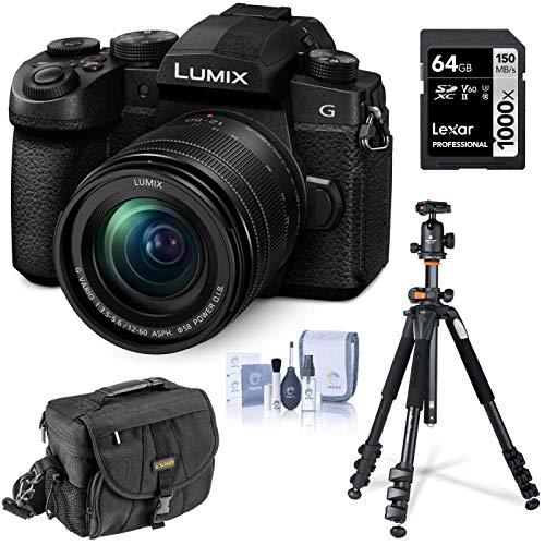 Panasonic LUMIX G95 20.3 Megapixel Mirrorless Digital Camera, 12-60mm F3.5-5.6 Lens, Pre-Installed V-Log L, Bundle with Vanguard 264AB-100 Aluminum Tripod with SBH-100 Ball Head, 32GB SD Card