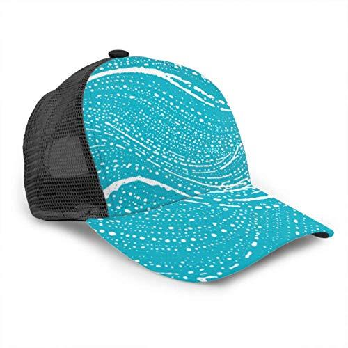 Gorra de béisbol Hombres Mujeres, Textura de jabón Natural Vivo Verde Azul...