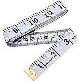 60 Pulgadas 150 cm Cinta Métrica de Sastre Suave para Regla de Tela de Doble cCara a Medida Costura...