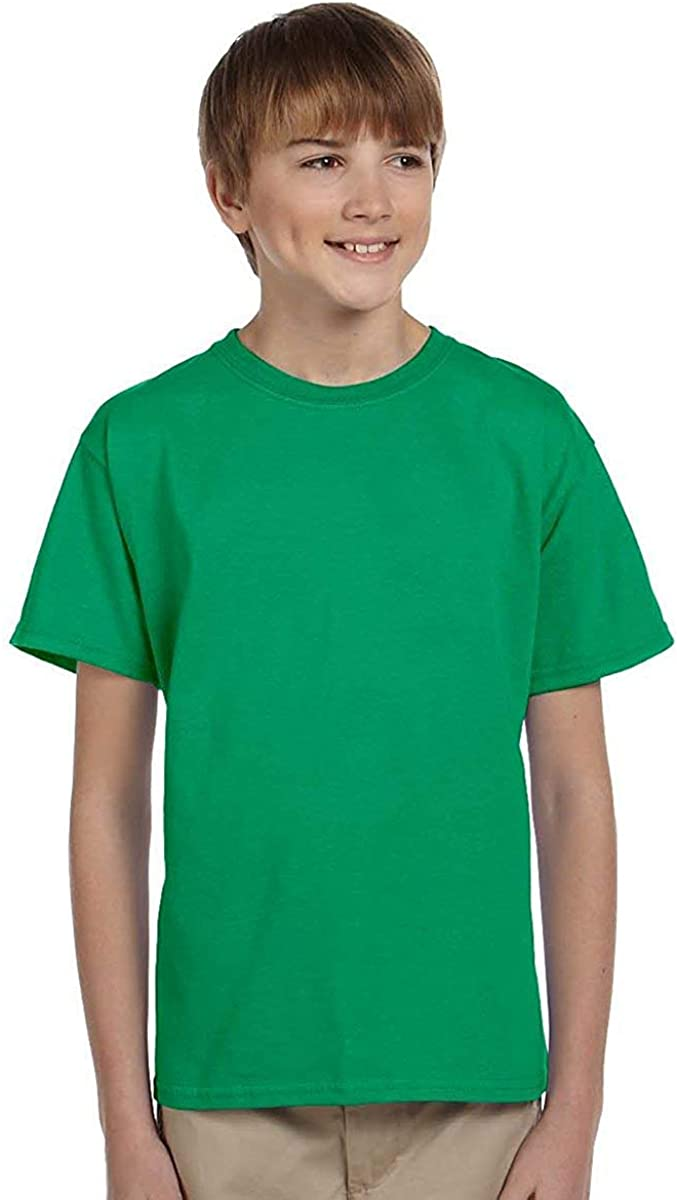 Hanes Youth Comfortblend Ecosmart Tee (Kelly) (S)