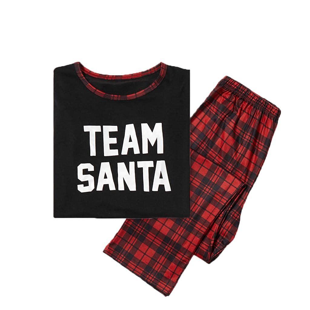 Padaleks Family Matching Pajamas Set Baby Onesie Jumpsuit Christmas Parent-Child Loungewear Two Piece Sleepwear
