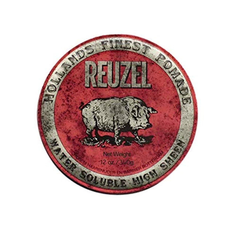 苗部屋を掃除する廃棄ルーゾー(REUZEL) ミディアムホールド レッド HIGH SHINE 340g