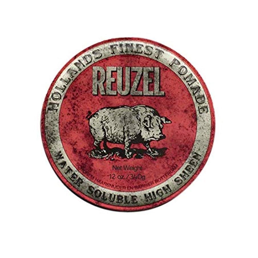 多用途サドル痛みルーゾー(REUZEL) ミディアムホールド レッド HIGH SHINE 340g