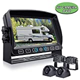Xroose Backup Camera with 7' Touch Button Monitor Built-in Recorder for RV Semi Box Truck Trailer Motorhome, FHD DVR Screen + Waterproof Rear & Side View Backing Up Camera System for Reversing/Driving