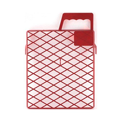 Schuller Eh\'Klar Kunststoff Abstreifgitter Drop PVC 22x26cm 40421,Rot