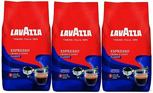 3x LAVAZZA Espresso CREMA E GUSTO Kaffee 1kg Italienisch Bohnen whole beans