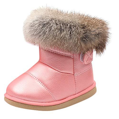 Alikeey Bébé Garçon Filles Enfant en Cuir Botte d'hiver Chaussons De Neige Chaudes Bottes