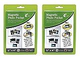 2 lots de 3 pochettes magnétiques pour photos de 15 x 10 cm pour réfrigérateur congélateur
