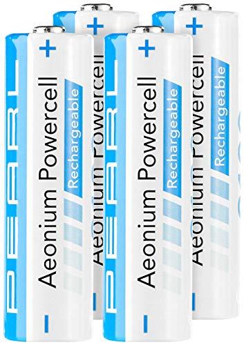 PEARL AA Akkus: Hybrid-Akku AA Mignon 2100 mAh Aeonium Powercell 4er-Set (Akku Batterien AA)