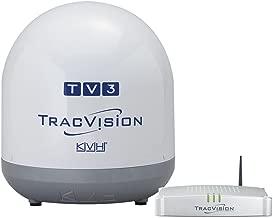 KVH Industries 01-0368-07 TracVision TV3 w/IP-TV Hub Boating Antennas