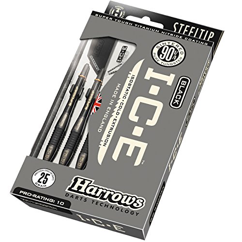 Harrows Unisex-Adult Black Ice Dart Steel, schwarz, 24 Gram