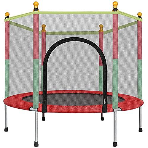 55in Cama Elastica Infantil, Espesado Acero Cama Elastica Exterior con Red de Seguridad Silenciosos Impermeables Cama Elastica Fitness para Infantil Adulto, Soporte 200 kg