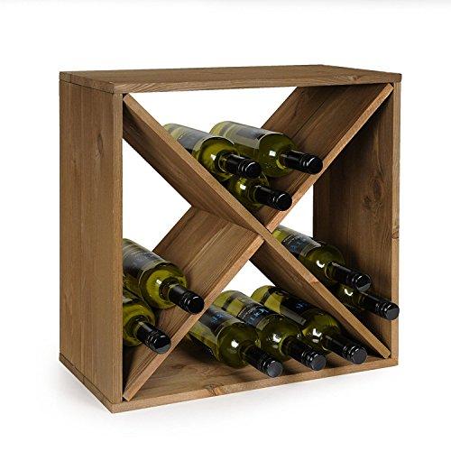 Kesper Weinflaschen - Regalsystem für 24 Flaschen