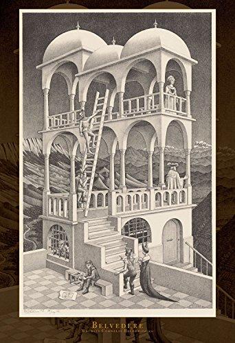 EPOCH 1053 stuk puzzel M.C.Escher Uitkijktoren (1958) Super klein stukje (26x38cm)