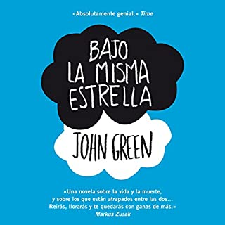 Bajo la misma estrella [The Fault in Our Stars] audiobook cover art
