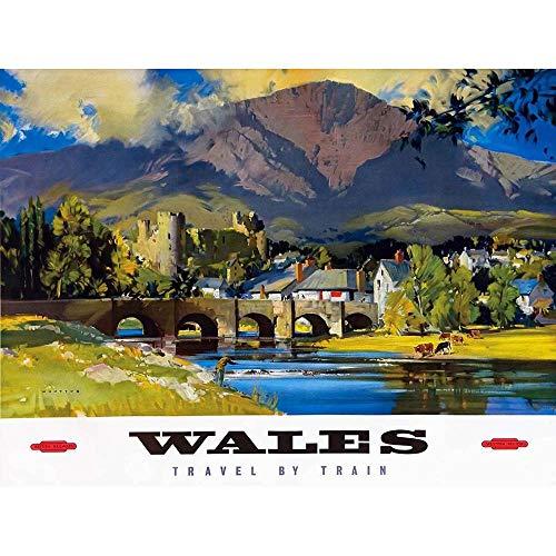 Wee Blue Coo Travel Transport Wales British Railways Unframed Wall Art Print Poster Home Decor Premium
