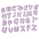 Elevin(TM) 👍👍 26 Alphabet Mold Style Letter Cutter Fondant Cookie Stamp Cake Decorating