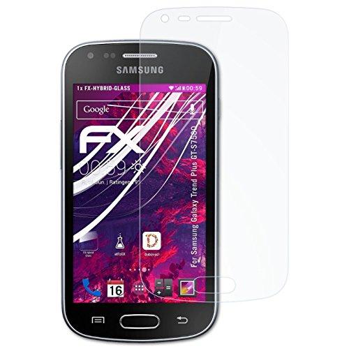 atFolix Glasfolie kompatibel mit Samsung Galaxy Trend Plus GT-S7580 Panzerfolie, 9H Hybrid-Glass FX Schutzpanzer Folie