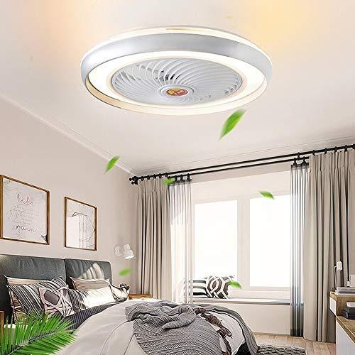 LIPENLI Aplicación de moda Ventiladores de techo inteligentes con luces Control remoto Ventilador Ventilador Lámpara Air Cool Dormitorio Decoración moderna 50 cm