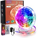 50ft Color Changing LED Strip Lights with Music Sync & Remote