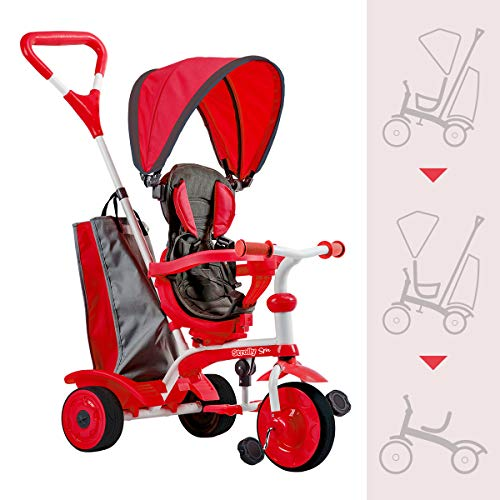 Strolly Spin - Spinning Stroller for Kids (Red)